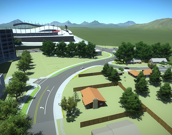 WCG Projects: 9720 South Roadway Realignment