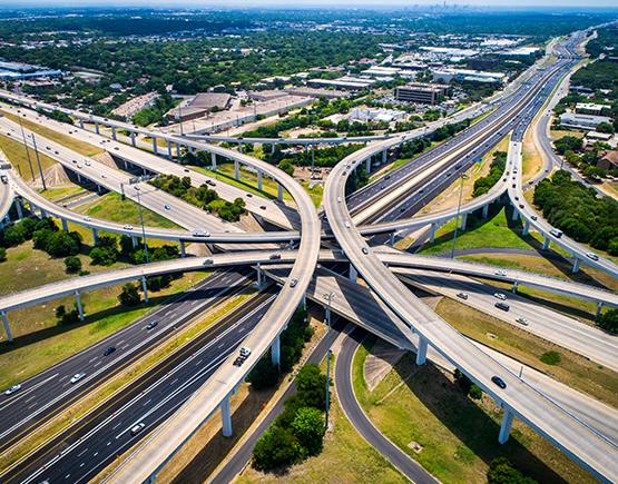 Large highway interchange.